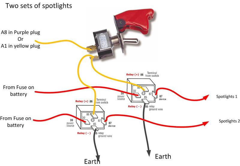 Brilliant Wiring Diagram For Spotlights With A Relay Basic Electronics Zipur Mohammedshrine Wiring Diagrams Zipurmohammedshrineorg