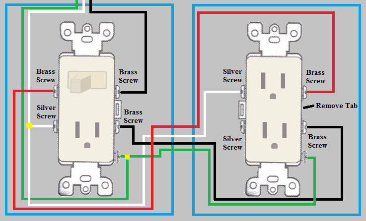 Surprising Electrical How Do I Wire A Duplex Outlet From A Switch Outlet Zipur Mohammedshrine Wiring Diagrams Zipurmohammedshrineorg