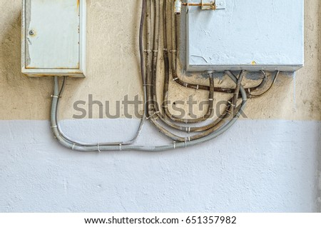 Groovy Electrical Switchboard On Wall Wiring Electrical Stock Photo Edit Zipur Mohammedshrine Wiring Diagrams Zipurmohammedshrineorg