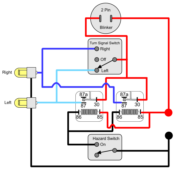 Magnificent Hazard Relay Wiring Diagram For Motorcycle Wiring Diagrams Lol Zipur Mohammedshrine Wiring Diagrams Zipurmohammedshrineorg