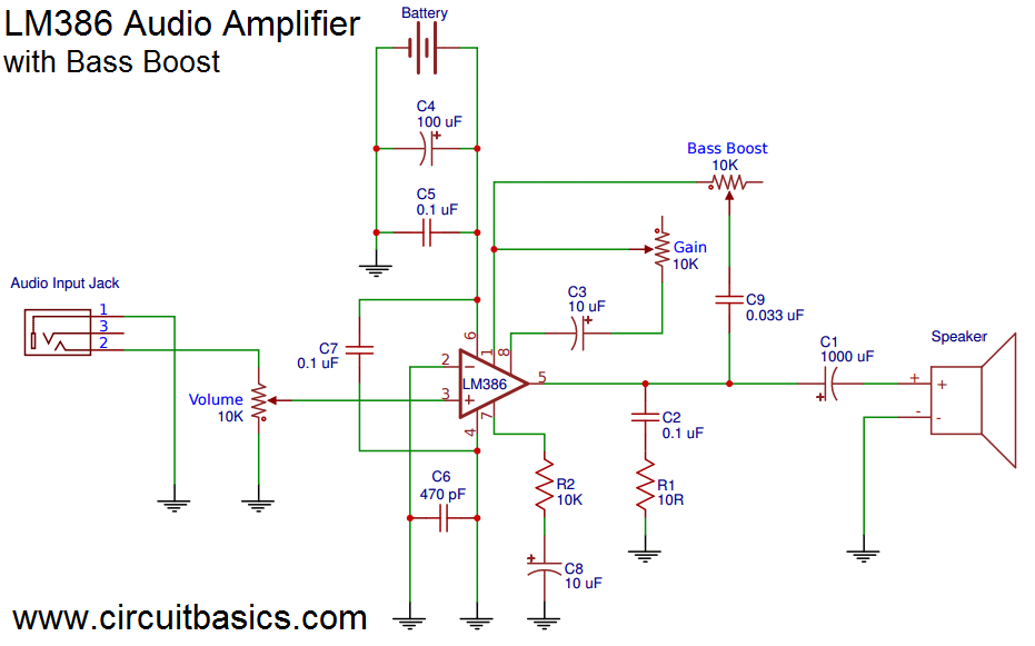 Phenomenal Build A Great Sounding Audio Amplifier With Bass Boost From The Lm386 Zipur Mohammedshrine Wiring Diagrams Zipurmohammedshrineorg